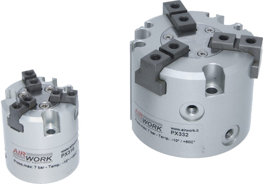 New pneumatic grippers