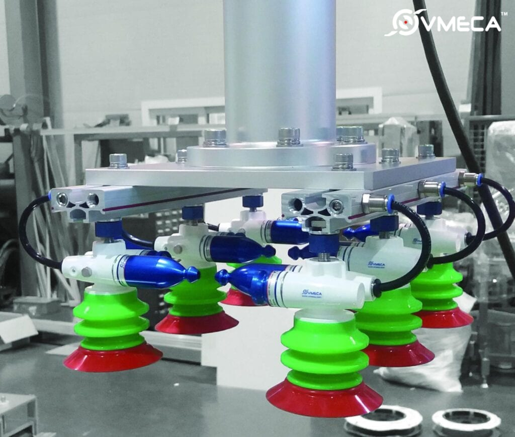 VMECA's Magic Grippers fitted with level compensators
